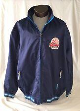 Vintage Roca Wear Mens Blue Full Zip Signature Embroidered Jacket Coat Size 3X