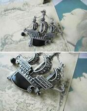 Punk Vintage Sailing Boat Ship Pirate Vessel Dragon With Black Pearl Brooch Pin