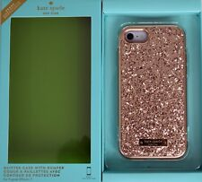 Kate Spade Rose Gold Glitter Hard Case for iPhone 6 6s 7 & 8