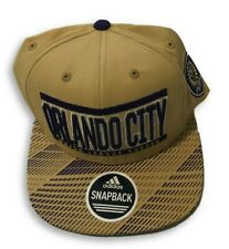 NWT New Orlando City SC adidas MLS Evolution Gold One Size Snapback Hat Cap