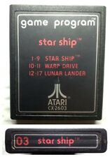 03 Star Ship numbered # label launch cartridge Atari 2600 Cleaned Tested VG