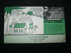 RARE Trade Card Ink BLOTTER Schneider Brothers Marquette MI Michigan  55