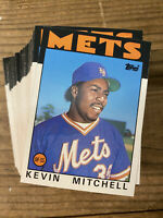 (100) 1986 Topps Traded #74T Kevin Mitchell Rookie New York Mets NM-MT+