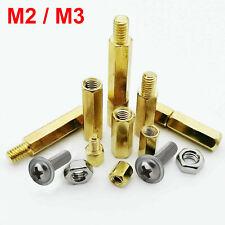 M2 M3 Brass Standoff Spacer Screw Nut Bolt Hex Column Support Washer 20//50//100X