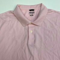 Izod Polo Shirt Men's Size 2XL XXL Short Sleeve Pink Casual 100% Pima Cotton