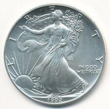 1992 AMERICAN SILVER EAGLE 1 OZ COIN EXACT SHOWN