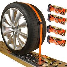 4 x Spanngurte Autotransport Gurt Reifengurt Radsicherung Zurrgurte Anhänger PKW