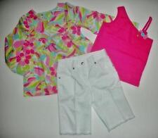 NWT Gymboree Palm Springs Tank Tee Flower Tunic Blouse White Shorts 3pc Lot 6