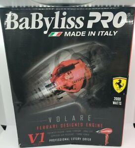 BaByliss Pro Volare V1 Luxury Hair Dryer Ferrari Designed Engine New- Open Box