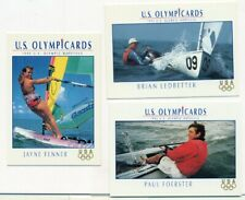 U.S. OLYMPICARDS - 1992 - SAILING INSERT TRADING CARD LOT - 3 CARDS - LEDBETTER