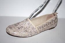 Damen Ballerinas Slipper Schuhe Freizeit beige Stickerei schick 42 UK 8  °1307 92b3abb156