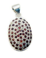 fair Garnet 925 Sterling Silver Red Pendant genuine suppiler US gift