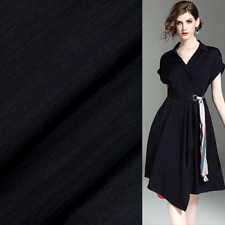 pure black 50% silk and 50% linen fabric silk blended fabric 14momme,SLN098