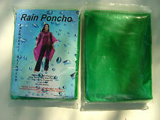 2 WATERPROOF PONCHOS CAPE MAC GREEN TRAVELLING HIKING WALKING HOLIDAY COAT