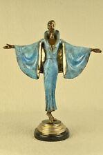 """Colorful Dancer Erte Reproduction Bronze Sculpture 19"""" x 15"""""""