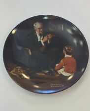 Norman Rockwell The Tycoon Plate 1st Edition In Fine China Coa
