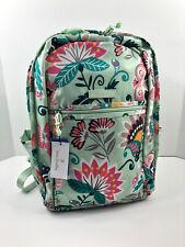 Vera Bradley Lighten up Grand Backpack in MINT Flowers School Travel