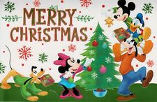 Disney Christmas Mickey & Minnie Goofy Donald Duck Greeting Greeting Card