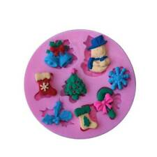 3D Silicone Christmas Cake Baking Mold Chocolate Fondant Jelly Decor Useful