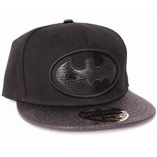 Batman Classic Black Logo Black Cap Baseball Kappe Mütze Snapback Schwarz