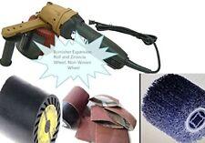 Burnisher Non-Woven Wheel 8 Alumina Belt & Expansion Roller metal iron de-rust