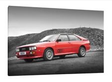 Audi Quattro - 30x20 Inch Canvas Framed Picture Group B Rally Wall Art