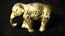 Antique Advertising Elephant Paperweight, Wyatt Mfg. Co. agriculture farming