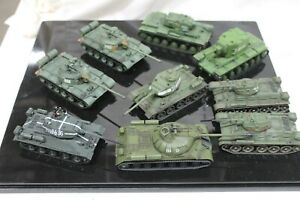 WWII Military Tank 1:72 Scale Metal/Plastic Collection Lot