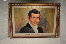 1940-50's Vintage Gone With The Wind Clark Gable as Rhett Butler Theater Poster