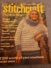 Original Vintage Stitchcraft Magazine October 1978