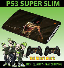PLAYSTATION PS3 SUPER SLIM MILEENA MK MORTAL KOMBAT X SKIN STICKER & 2 PAD SKIN