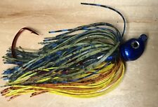 Jointed Swim Jig Lot Of 3 Poison Swingtail   1/4Oz 3/0 Hook Shell Cracker