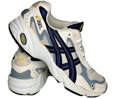 Vintage 90s Asics Gel Leather Running Jogging Dad Shoes White EUC Mens 9 1/2