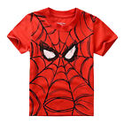 1-7Y Kids Baby Boys Superhero T shirt Short Sleeve T-shirt Batman Summer Tee Top