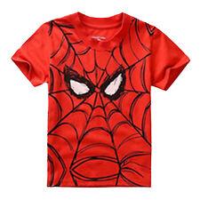 Verano Niño Dibujos Tops Estampados Camisetas Infantil Blusa Manga Corta