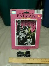 '90s Batman {LOT of 2} Blindfold Party Game + ERTL Batmobile Diecast Toy Car