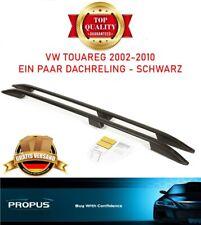 VW TOUAREG 2002-2010 Aluminium Dachreling Dachgepäckträger Schwarz