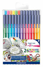 Staedtler Triplus Set 26 Felt Tip Colouring Pens 323 TB26JB For Adult Colouring
