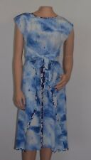 Rebecca Taylor Shibori Watercolor Knot Waist Silk Waist Tie Dress Sz 2 New $375