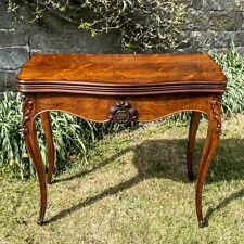 Louis XV Rococo French Rosewood Console / Foldover Games Table C1850
