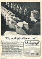 1949 Multigraph Typewriter Vintage Original Advertisement Print Art Ad K97