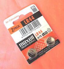 lot 2 piles MAXELL HITACHI Alkaline 1.5V Games AG13 LR44 A76 SR44 D357 303 SP3
