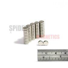 50 Magnets 6x2 mm N52 Grade Neodymium Disc small neo craft magnet 6mm dia x 2mm