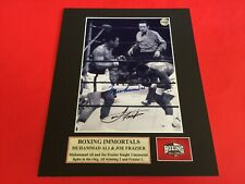Muhammad Ali and Joe Frazier Signed 5x7 Photo with Certificate of Authenticity