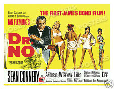 DR. NO LOBBY CARD POSTER BQ 1962 JAMES BOND SEAN CONNERY URSULA ANDRESS