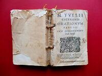 M. Tullii Ciceronis Orationum Pars III Correctionibus Pauli Manutii Polum 1607