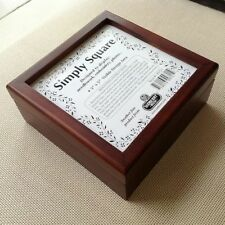 Sudberry Simply Square Box for Needlework Insert, 6 x 6 mahogany