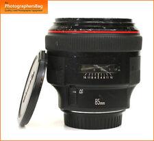 Canon EF 85mm F1.2 USM Lente Para Canon L II EOS + Free UK Post