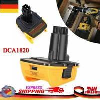 20V auf 18V DCA1820 Akku Adapter Konverter MAX Li-Ion AKKU Für Dewalt