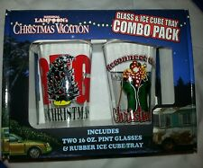 National Lampoon's Christmas Vacation Pint Glass 2 Set & Ice Cube Tray Combo Pk.